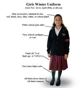 Girls Winter School Uniform